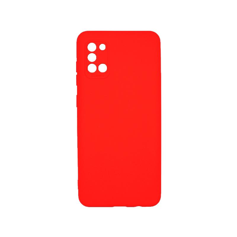 Θήκη Samsung Galaxy A31 Plus Silky and Soft Touch Silicone Κόκκινο 1