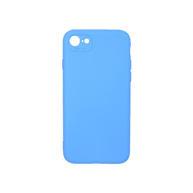 Θήκη iPhone 7 / 8 / SE 2020 Silky and Soft Touch Silicone μπλε 1