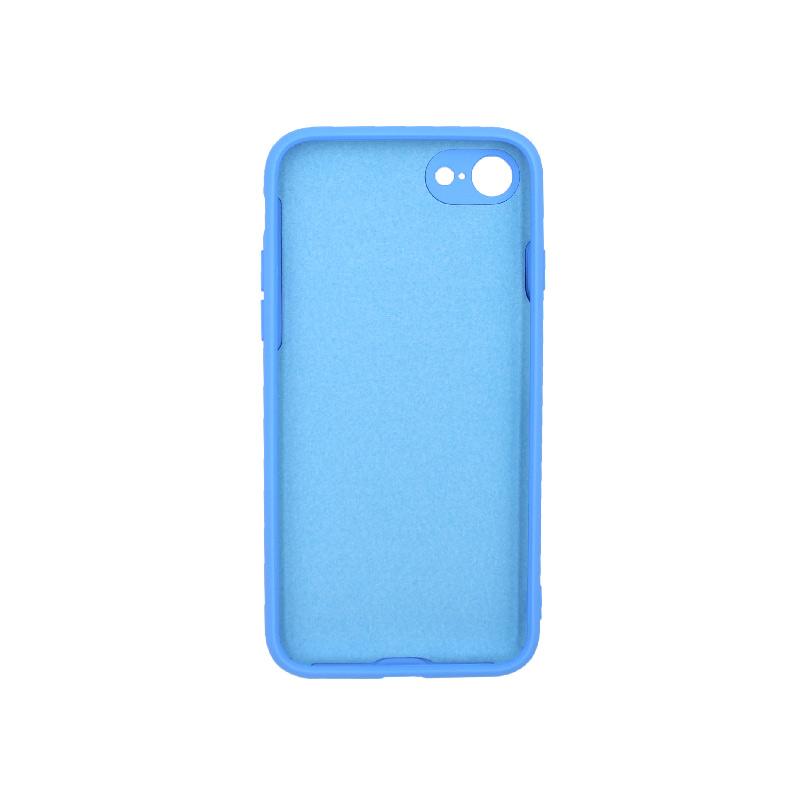 Θήκη iPhone 7 / 8 / SE 2020 Silky and Soft Touch Silicone μπλε 2