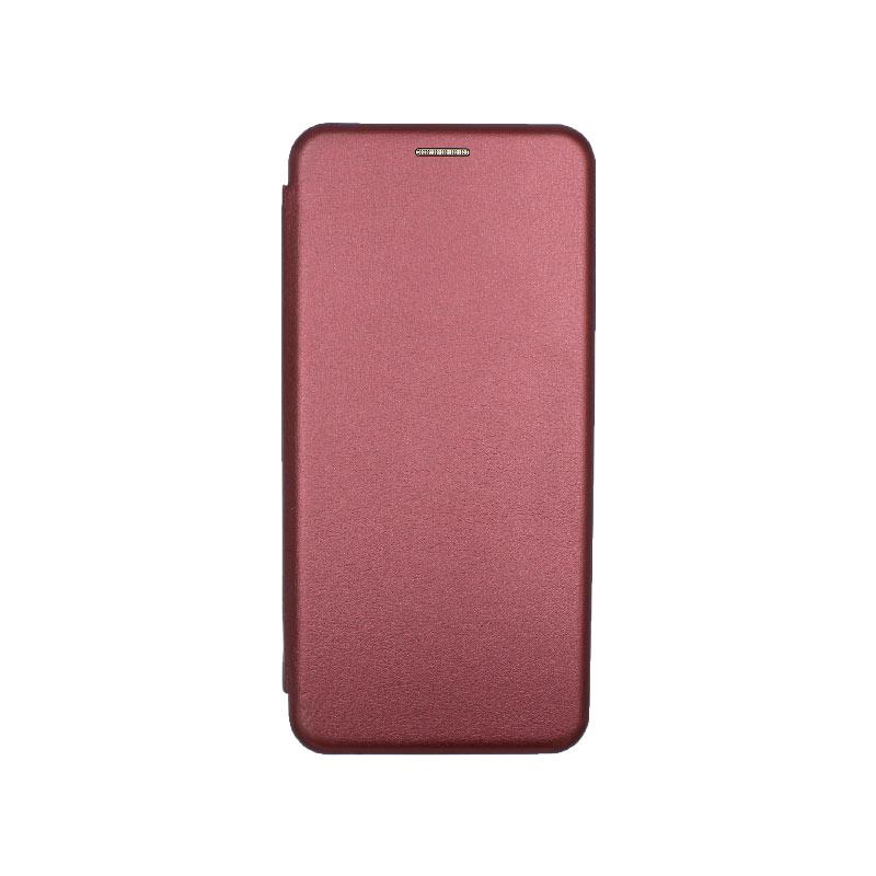 Θήκη Samsung Galaxy A21s Book μπορντό 1