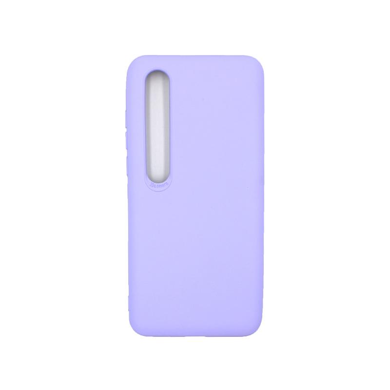 Θήκη Xiaomi Mi 10 / Mi 10 Pro Silky and Soft Touch Silicone μωβ 1