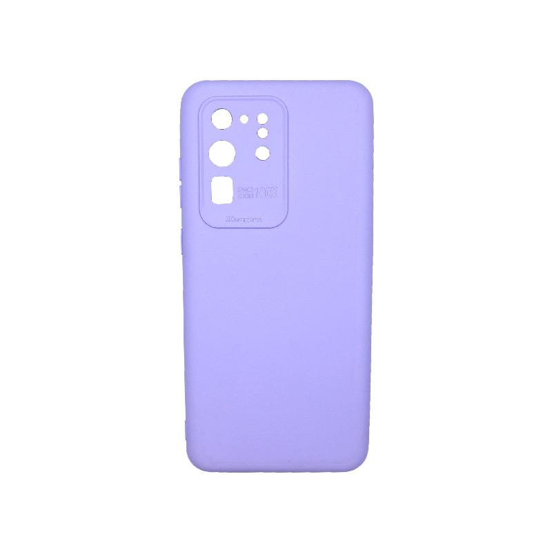 Θήκη Samsung Galaxy S20 Ultra Silky and Soft Touch Silicone Μωβ 1