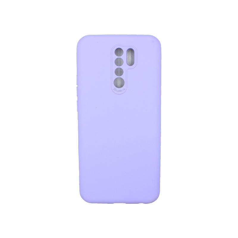 Θήκη Xiaomi Redmi 9 Silky and Soft Touch Silicone μωβ 1