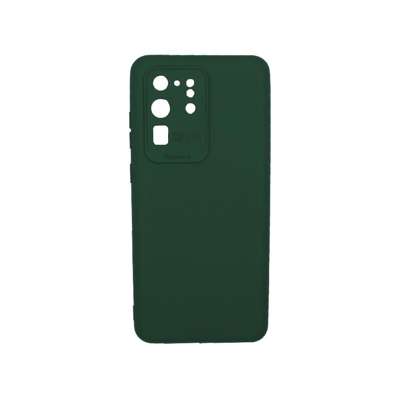 Θήκη Samsung Galaxy S20 Ultra Silky and Soft Touch Silicone Πράσινο 1
