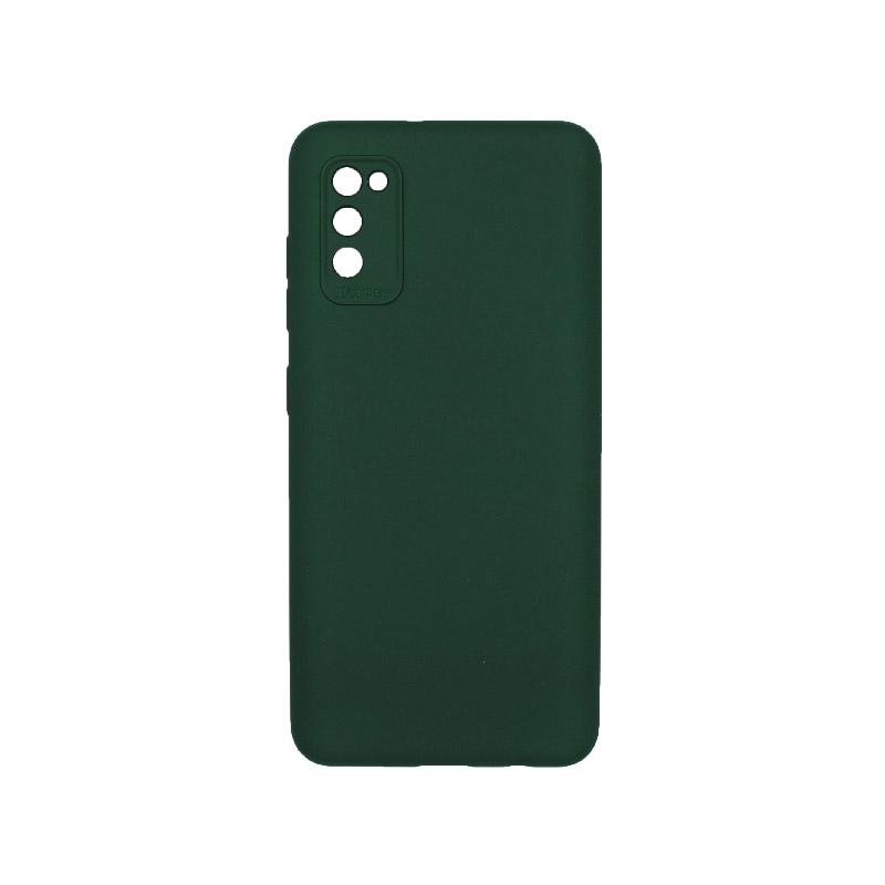 Θήκη Samsung Galaxy A41 Silky and Soft Touch Silicone Πράσινο 1