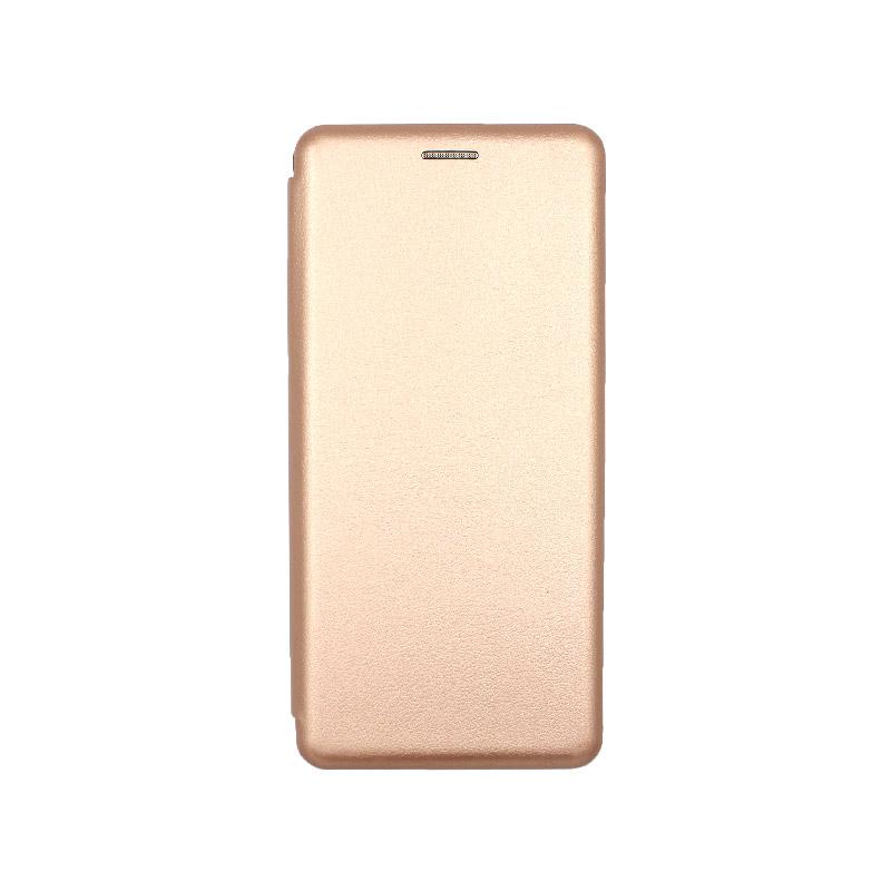 Θήκη samsung galaxy A31 book ροζ χρυσό 1