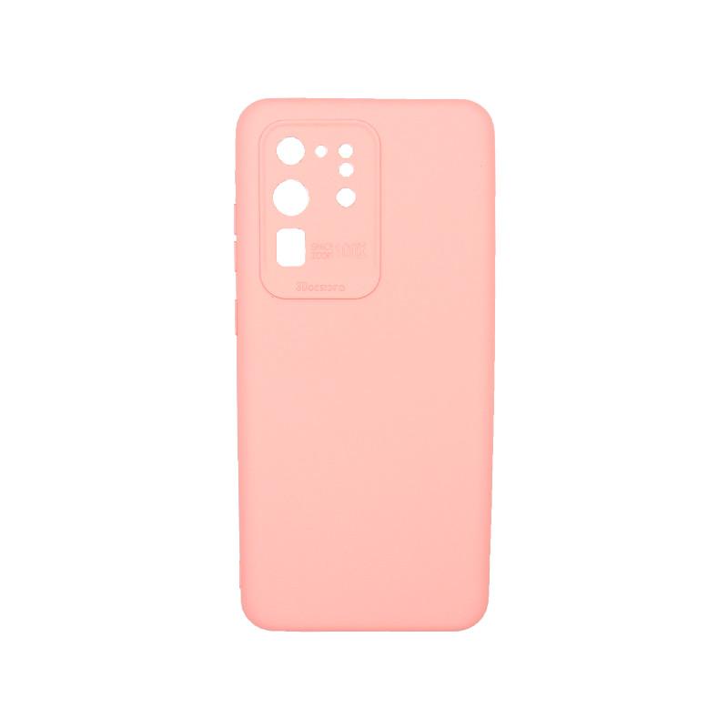 Θήκη Samsung Galaxy S20 Ultra Silky and Soft Touch Silicone Ροζ 1