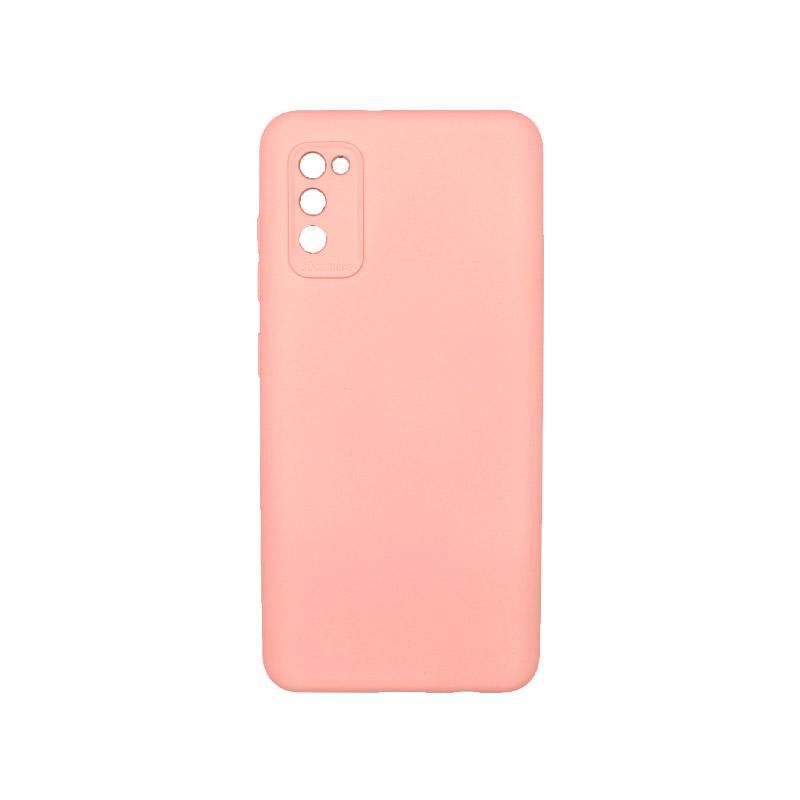 Θήκη Samsung Galaxy A41 Silky and Soft Touch Silicone Ροζ 1