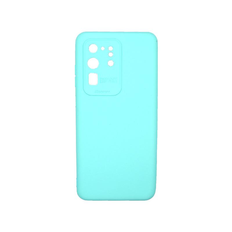 Θήκη Samsung Galaxy S20 Ultra Silky and Soft Touch Silicone Τιρκουάζ 1