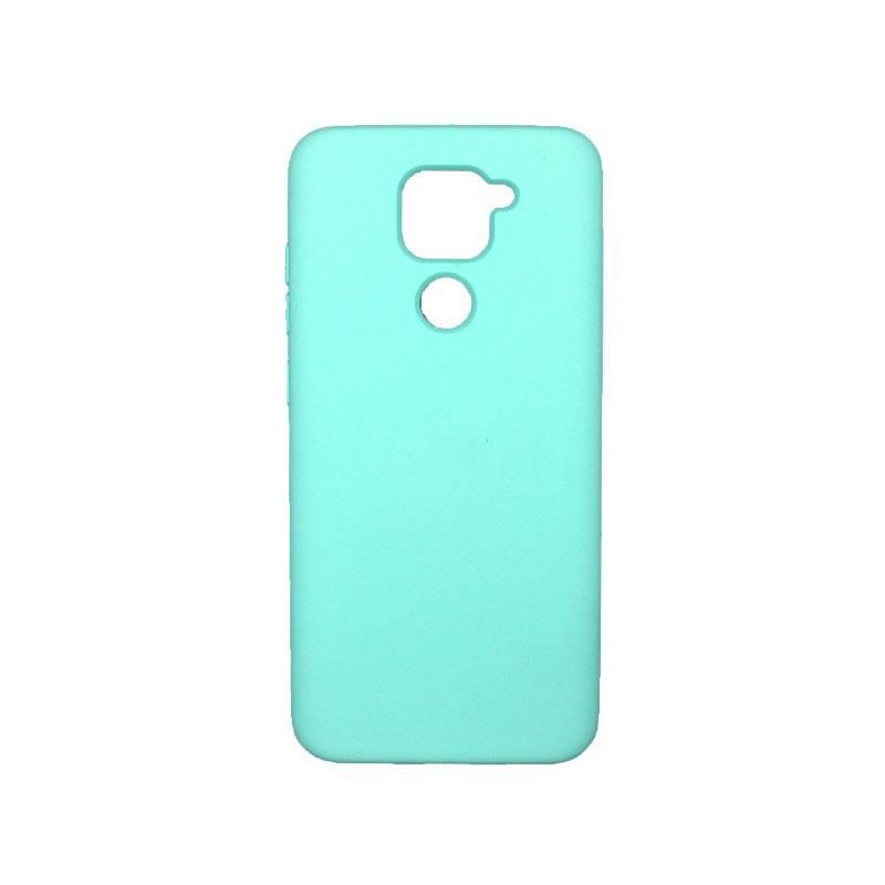 Θήκη Xiaomi Redmi Note 9 Silky and Soft Touch Silicone τιρκουάζ 1