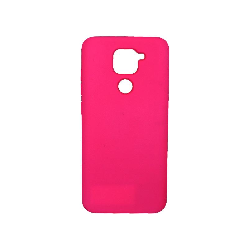 Θήκη Xiaomi Redmi Note 9 Silky and Soft Touch Silicone φούξια 1