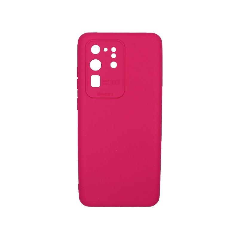 Θήκη Samsung Galaxy S20 Ultra Silky and Soft Touch Silicone Φούξια 1