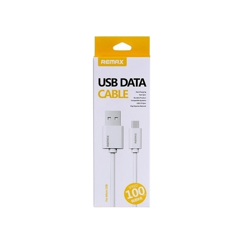 Remax Regular USB 2.0 to micro USB Cable Λευκό 1m (Data Cable) 2