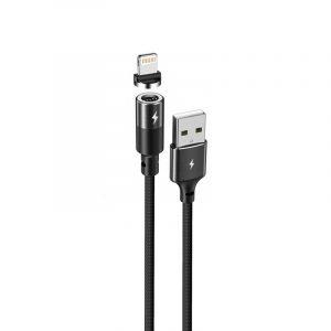 Remax RC-102a Zigie Braided USB 2.0 to Lightning Μαγνητικό Καλώδιο Μαύρο