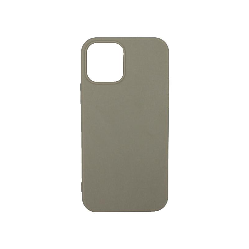 Θήκη iPhone 12 Pro Σιλικόνη Γκρι