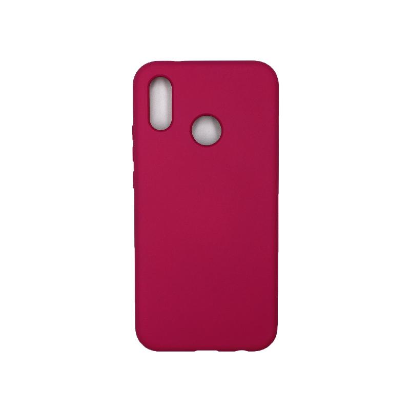 Θήκη Huawei P20 Lite Silky and Soft Touch Silicone φούξια