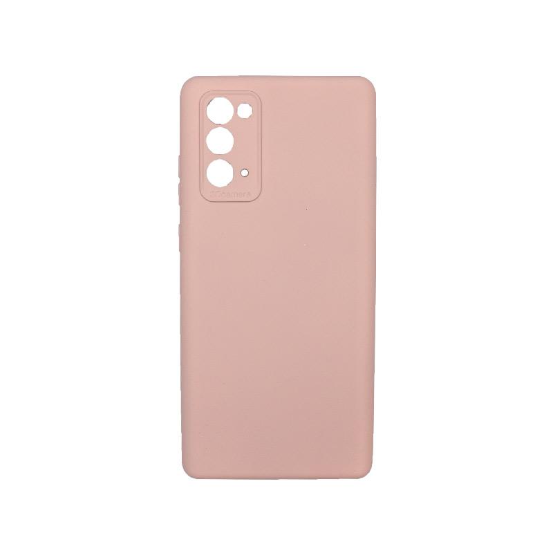 Θήκη Samsung Galaxy Note 20 Silky and Soft Touch Silicone Ανοιχτό ροζ 1
