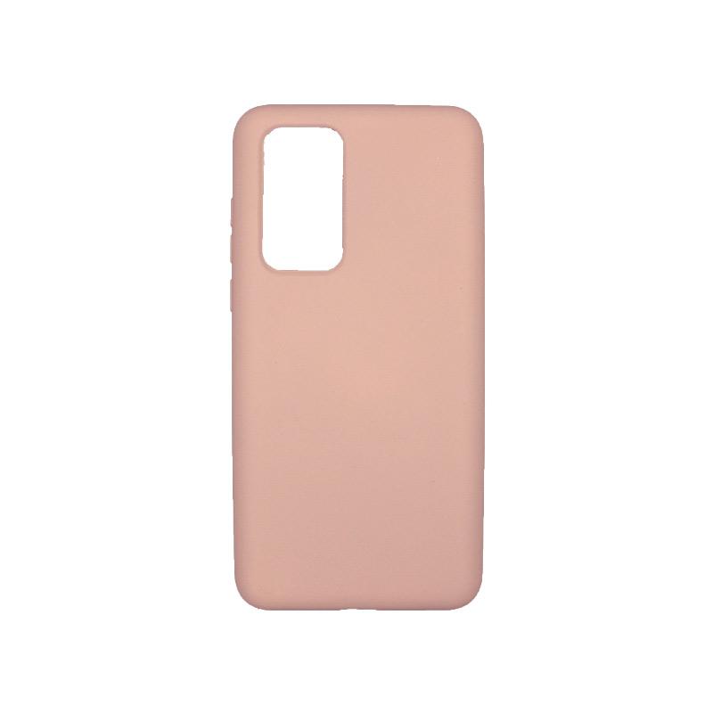 Θήκη Huawei P40 Silky and Soft Touch Silicone Ανοιχτό ροζ 1