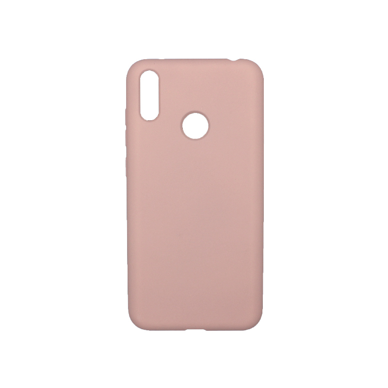 Θήκη Huawei Y7 2019 Silky and Soft Touch Silicone Απαλό Ροζ 1