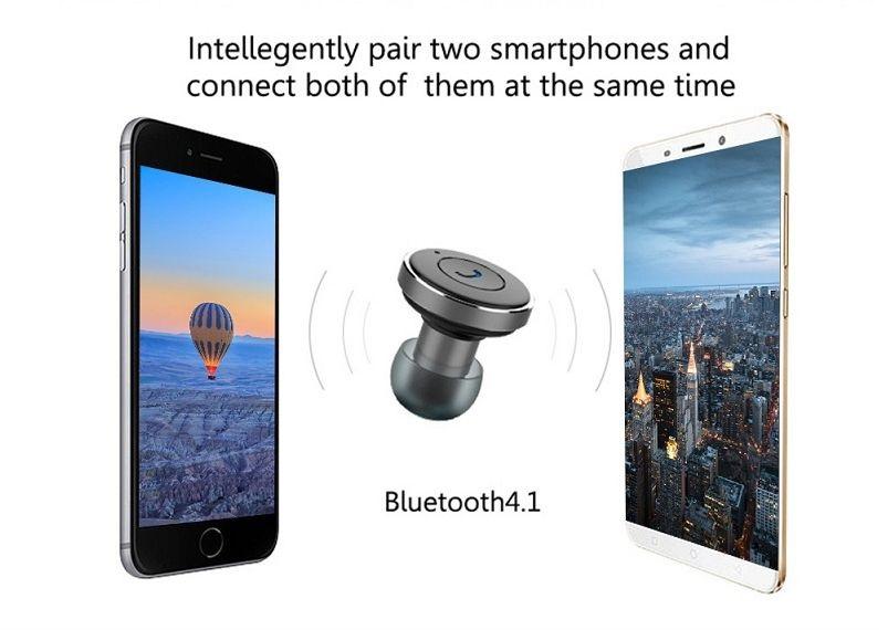 Επαναφορτιζόμενο Ασύρματο Bluetooth Ακουστικό Awei A871BL με Αυτοκινήτου Μαύρο διαφημιστικό 3