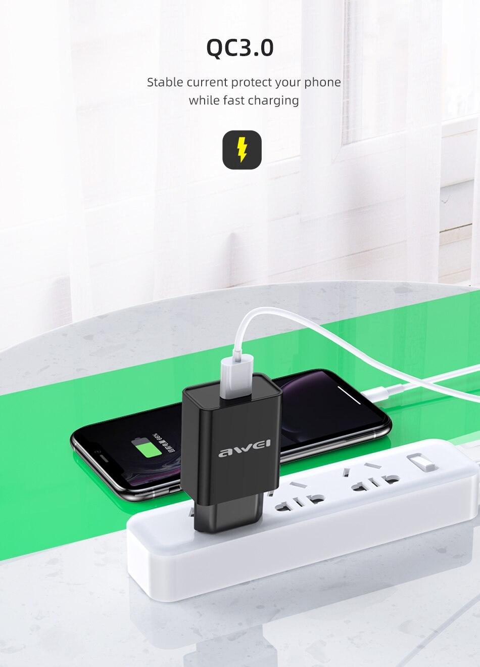 Φορτιστής Universal Awei C-824 Fast Charging Adapter διαφημιστικά 2