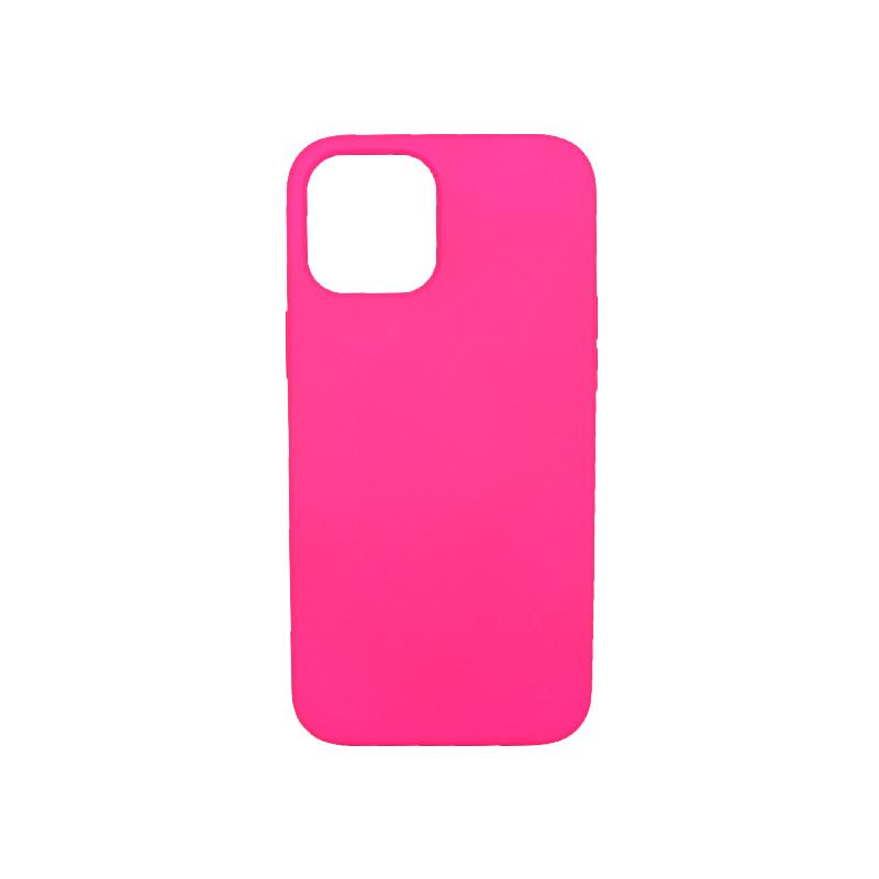 Θήκη iPhone 12 Pro Max Silky and Soft Touch Silicone φούξια 1