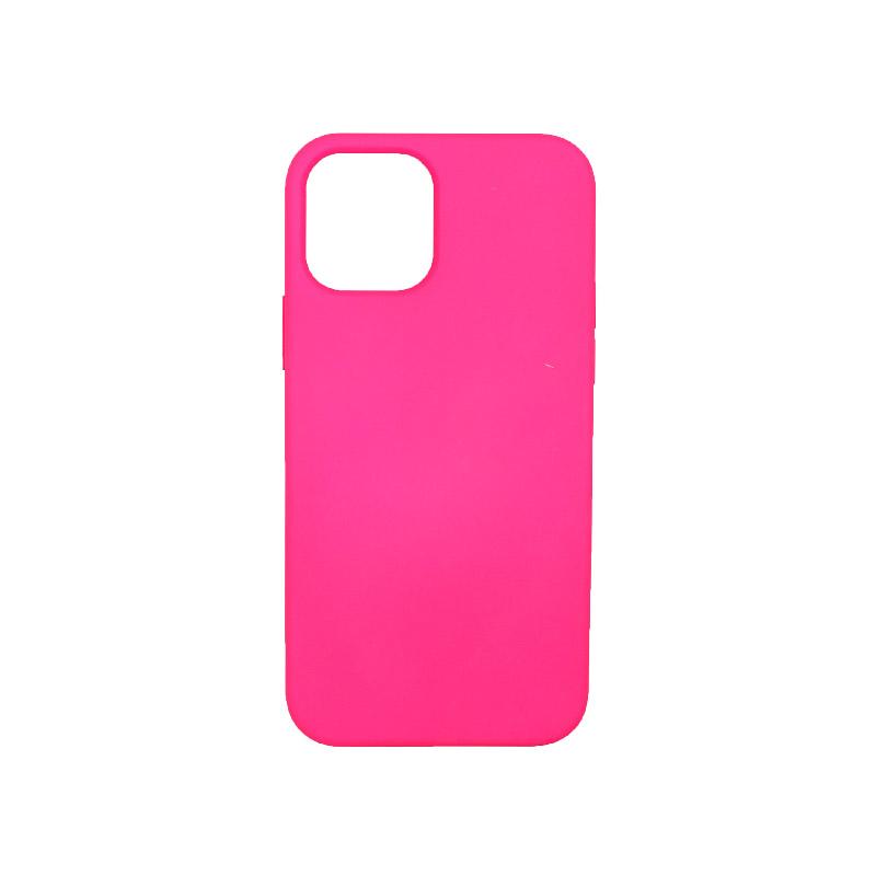 Θήκη iPhone 12 Silky and Soft Touch Silicone Φούξια 1