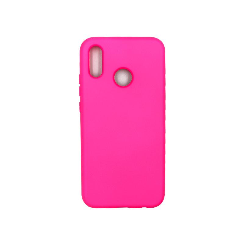 Θήκη Huawei P20 Lite Silky and Soft Touch Silicone φούξια 1