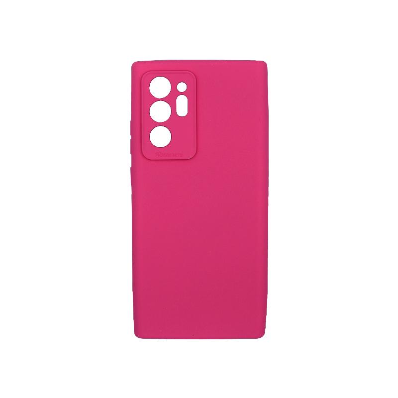 Θήκη Samsung Galaxy Note 20 Plus Silky and Soft Touch Silicone φούξια 1