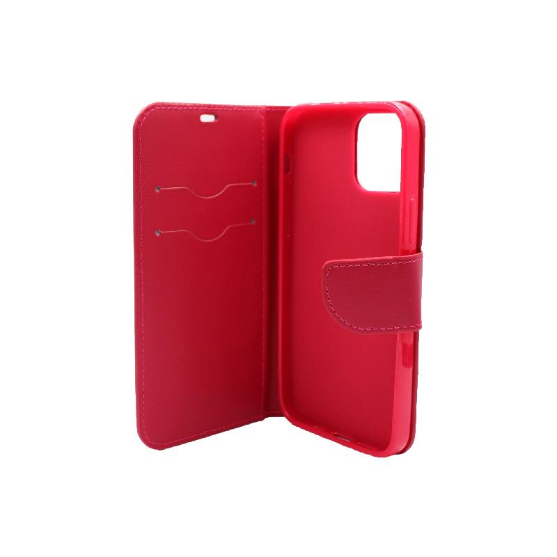 Θήκη iPhone 12 Wallet Φούξια 3