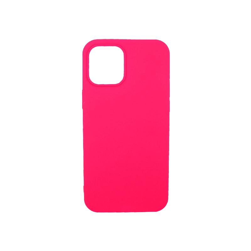 Θήκη iPhone 12 Σιλικόνη Φούξια