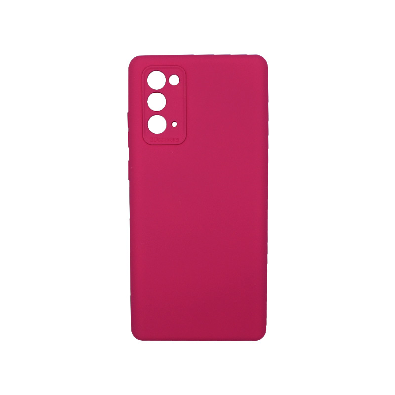 Θήκη Samsung Galaxy Note 20 Silky and Soft Touch Silicone Φούξια 1