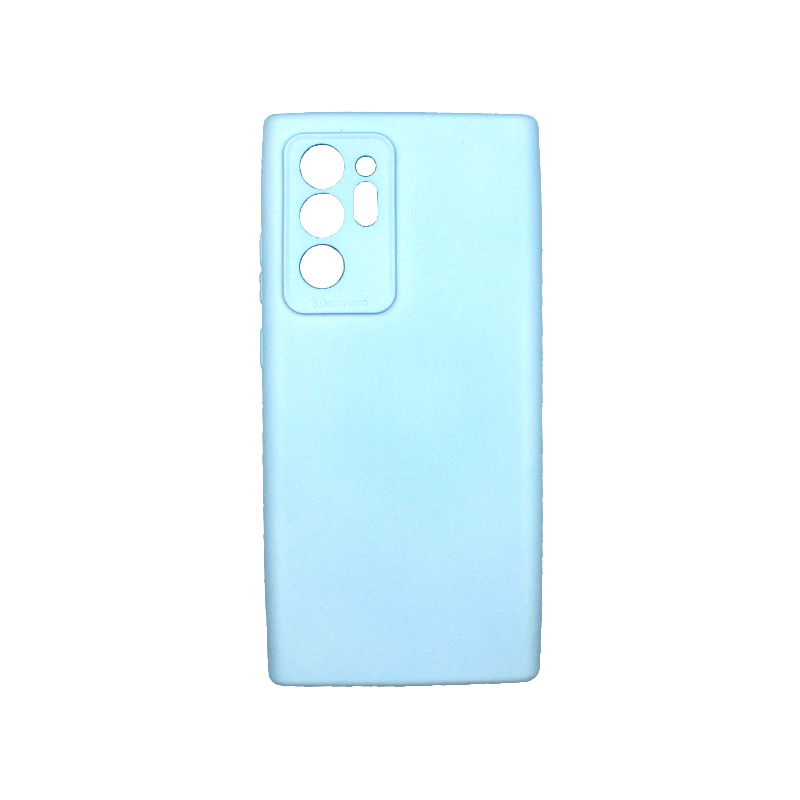 Θήκη Samsung Galaxy Note 20 Plus Silky and Soft Touch Silicone γαλάζιο 1
