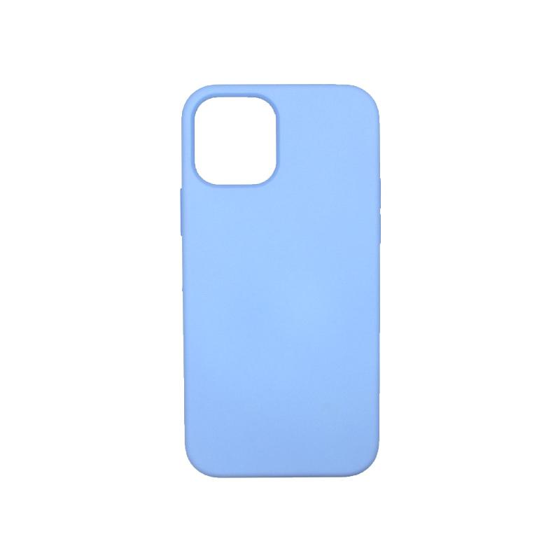 Θήκη iPhone 12 Silky and Soft Touch Silicone Γαλάζιο 1