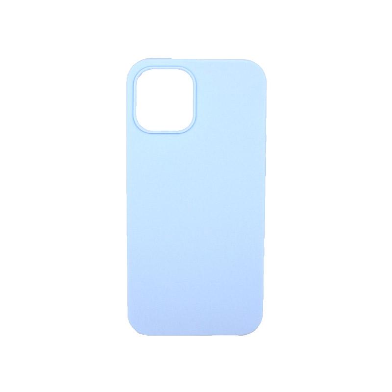 Θήκη iPhone 12 Σιλικόνη Γαλάζιο