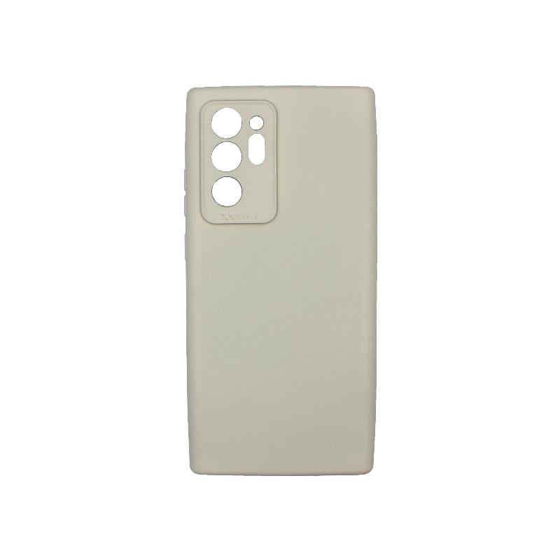Θήκη Samsung Galaxy Note 20 Plus Silky and Soft Touch Silicone γκρι 1