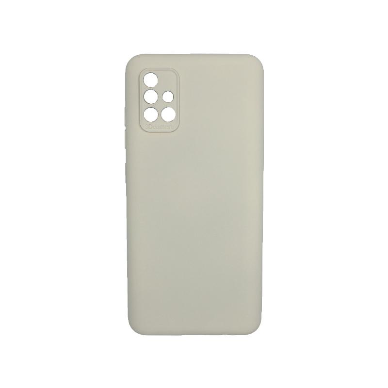 Θήκη Samsung Galaxy A71 Silky and Soft Touch Silicone Γκρι 1