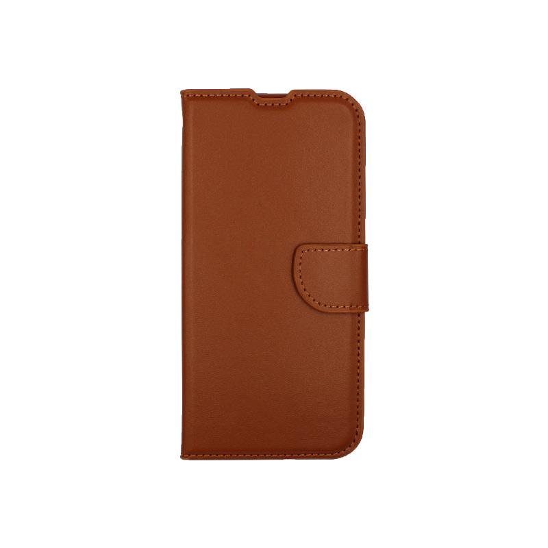 Θήκη Xiaomi Redmi Note 8T Wallet καφέ 1