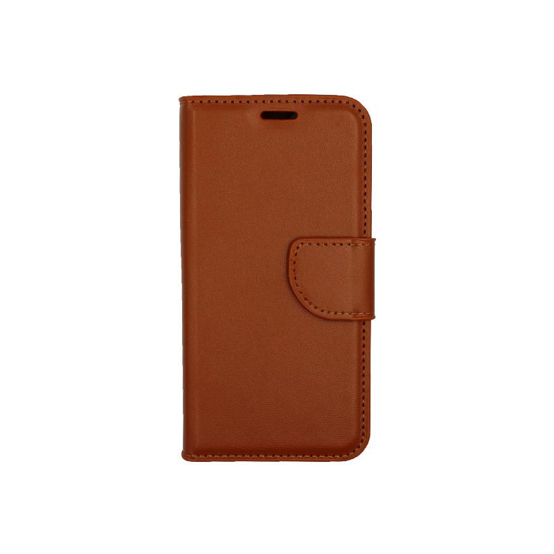 Θήκη iPhone 12 Mini Wallet καφέ 1