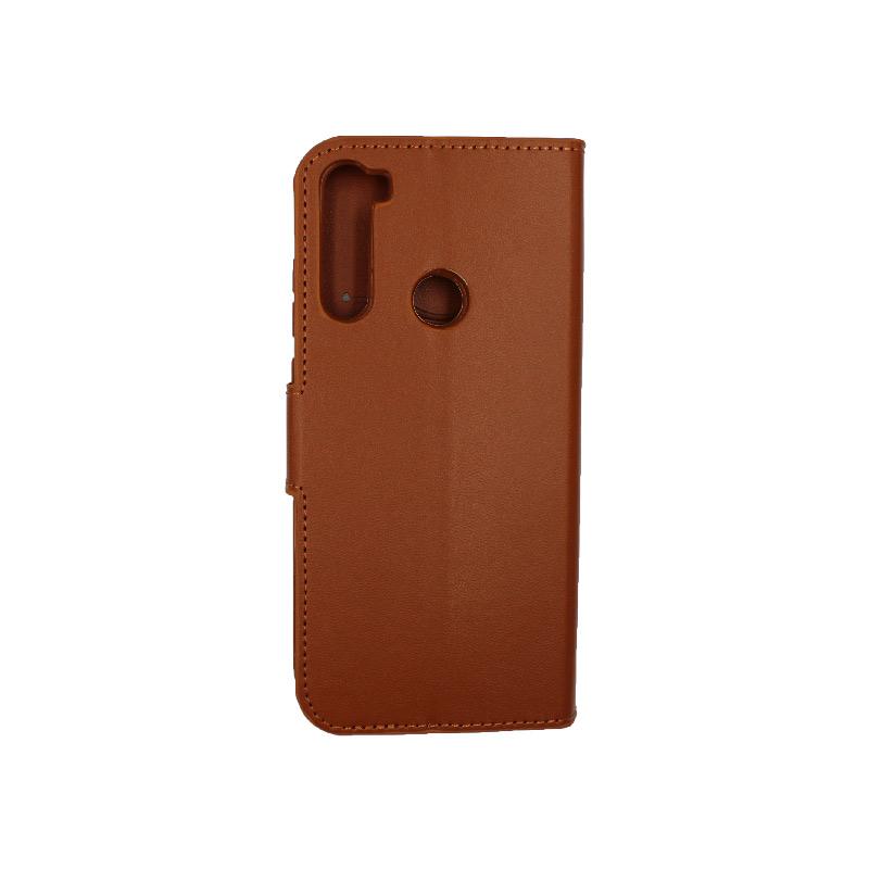 Θήκη Xiaomi Redmi Note 8T Wallet καφέ 2