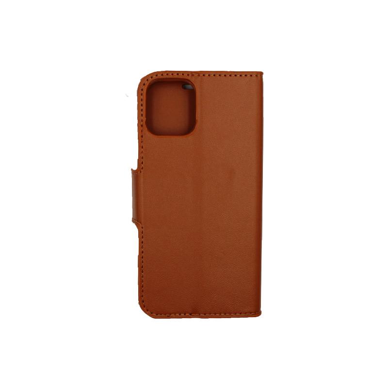 Θήκη iPhone 12 Mini Wallet καφέ 2