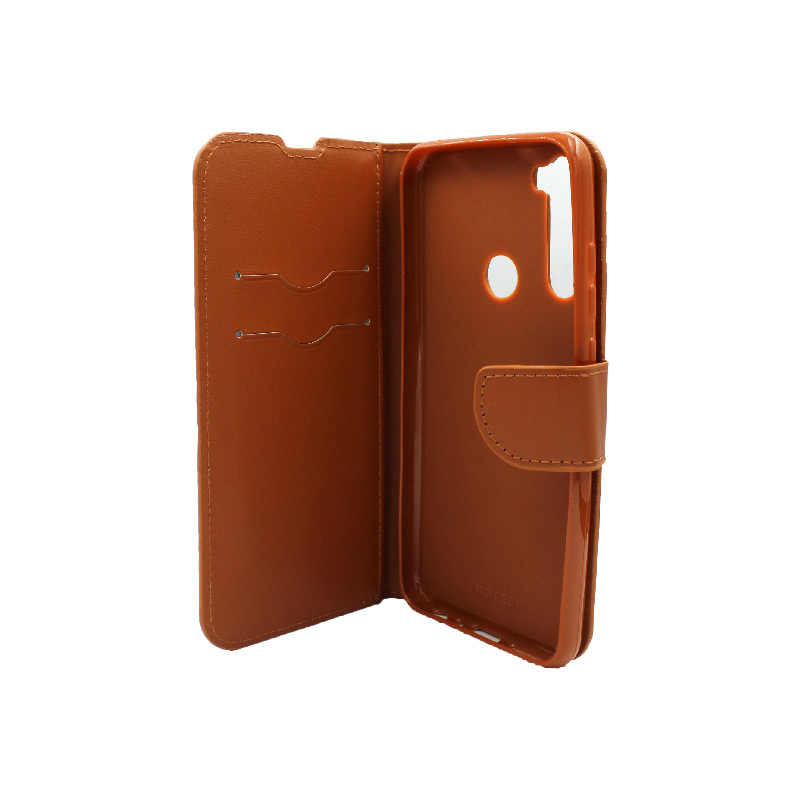 Θήκη Xiaomi Redmi Note 8T Wallet καφέ 3