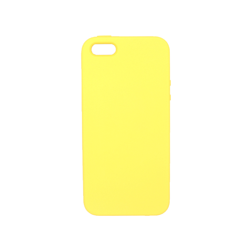 Θήκη iPhone 5 / 5s / SE Silky and Soft Touch Silicone κίτρινο 1