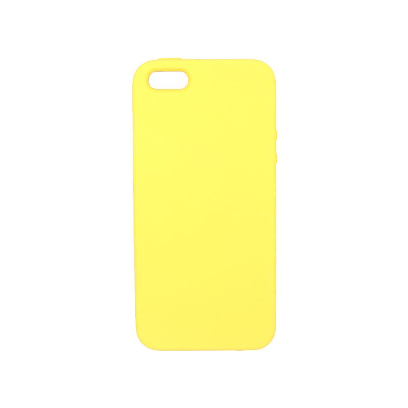 Θήκη iPhone 5 / 5s / SE Silky and Soft Touch Silicone κίτρινο 1