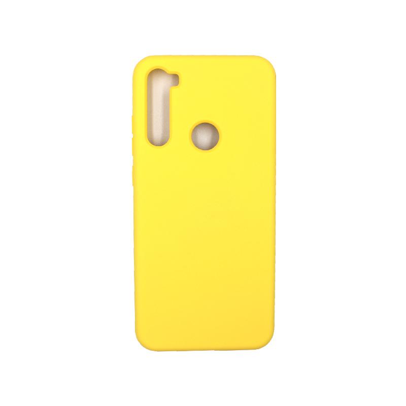 Θήκη Xiaomi Redmi Note 8T Silky and Soft Touch Silicone κίτρινο 1