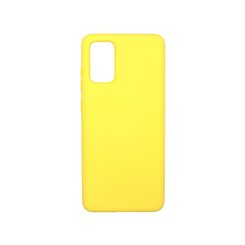 Θήκη Samsung Galaxy S20 Plus Silky and Soft Touch Silicone κίτρινο 1