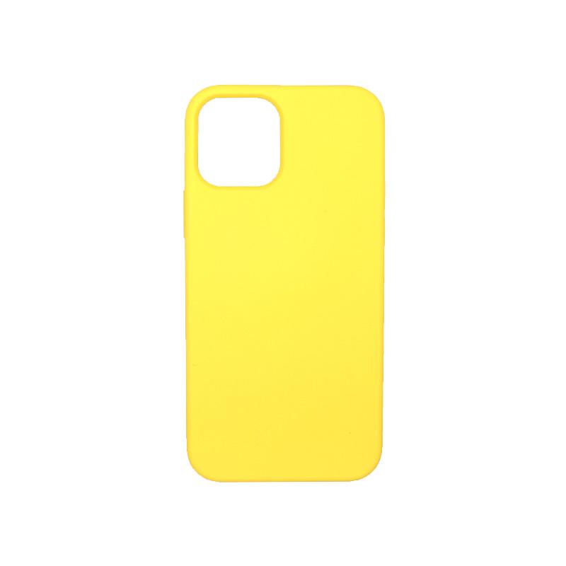 Θήκη iPhone 12 Silky and Soft Touch Silicone Κίτρινο 1