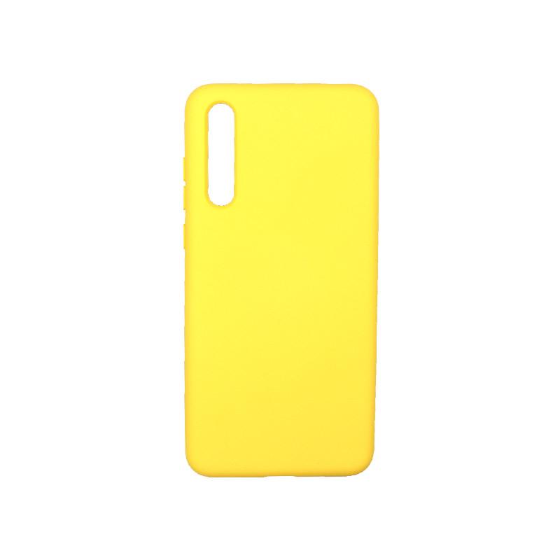 Θήκη Huawei P20 Pro Silky and Soft Touch Silicone κίτρινο 1