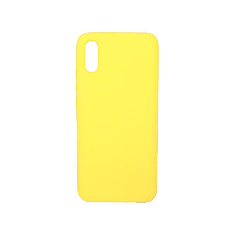 Θήκη Xiaomi Redmi 9A Silky and Soft Touch Silicone κίτρινο 1