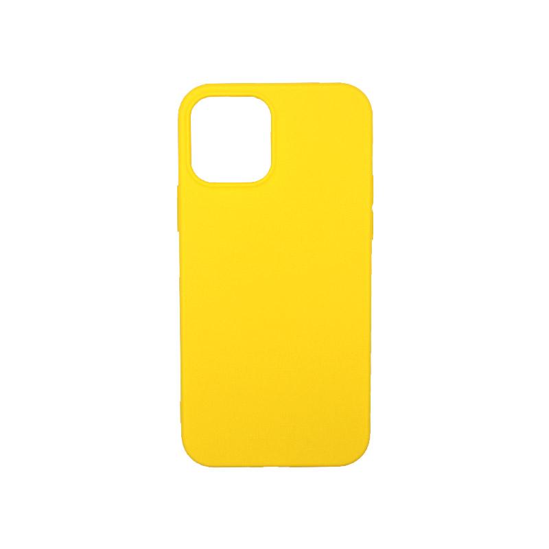 Θήκη iPhone 12 Σιλικόνη Κίτρινο
